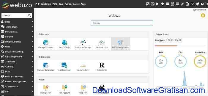 10 Web Hosting Control Panel Gratis Alternatif Cpanel