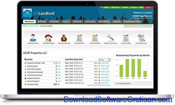 Aplikasi Online Manajemen Properti Gratis Terbaik 123Landlord