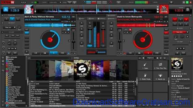 Aplikasi DJ Gratis untuk PC Virtual DJ Tampilan