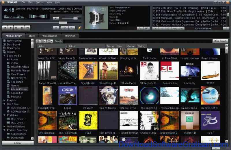 Download Aplikasi MP3 Player Gratis : Winamp