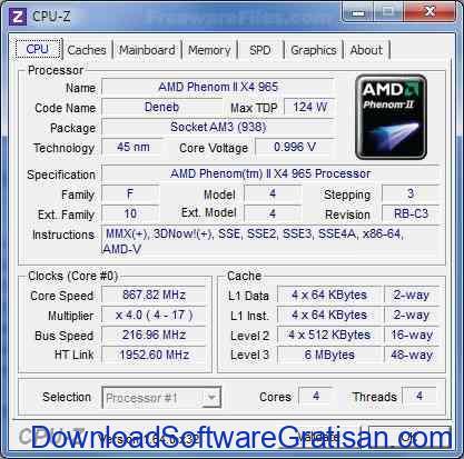 Download CPU-Z Terbaru Aplikasi untuk Melihat Informasi Hardware PC