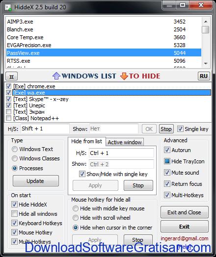Aplikasi untuk Menyembunyikan Window Aplikasi : HiddeX
