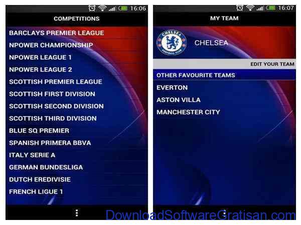 Aplikasi Livescore & Jadwal Bola Android Sky Sports Live Football SC