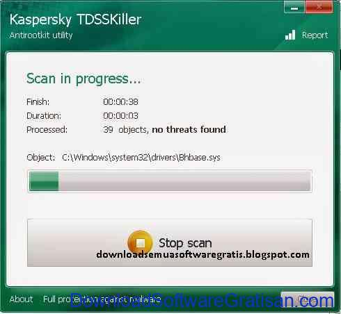 Download Utiltas Anti-rootkit Gratis : TDSSKiller