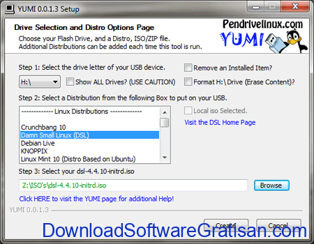 Aplikasi Bootable Flashdisk Gratis YUMI