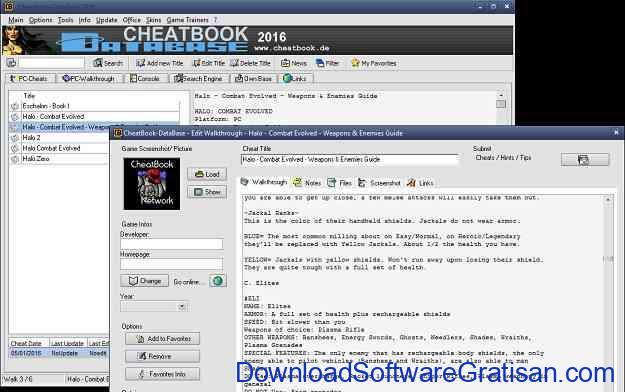 Aplikasi Cheat Game Gratis Terbaik untuk PC Cheatbook Database Terbaru