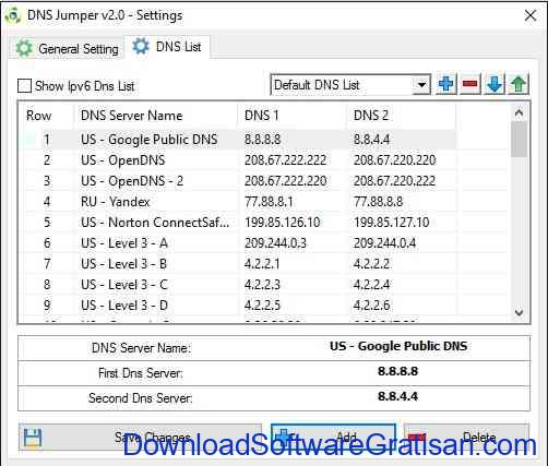DNS Jumper Aplikasi Gratis Terbaik untuk Merubah DNS Pengaturan
