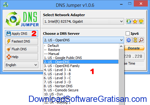 DNS Jumper - Aplikasi Gratis Untuk Merubah DNS
