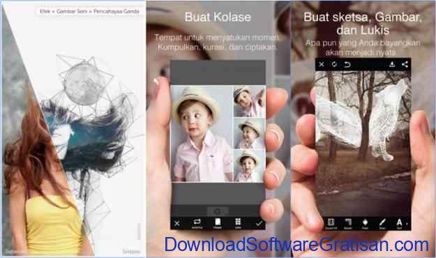 Aplikasi edit foto pics art