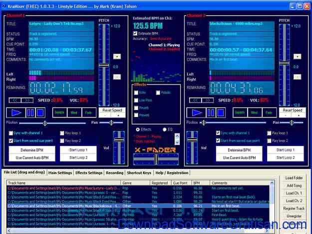 Aplikasi DJ untuk Edit & Remix Lagu Gratis Terbaik di PC Kramixer