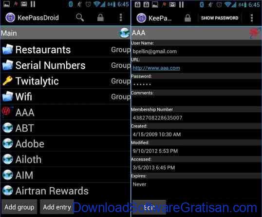 Aplikasi yang wajib di instal di android Keepass