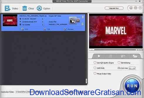 Aplikasi untuk Konversi Video : WinX Free FLV to 3GP