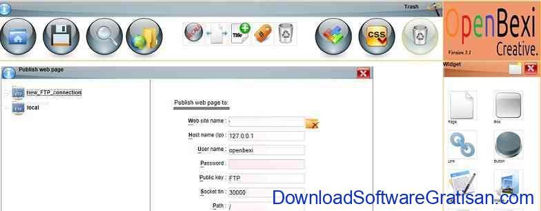 Aplikasi Web Design OpenBEXI
