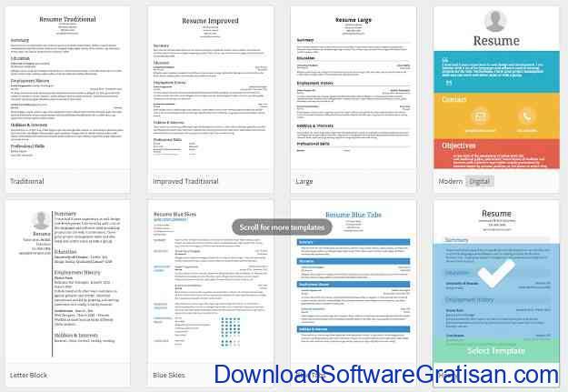 Aplikasi untuk Membuat CV Kreatif Secara Online Resume