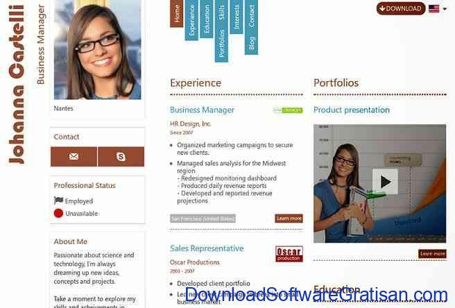 Aplikasi untuk Membuat CV Kreatif Secara Online freeresume