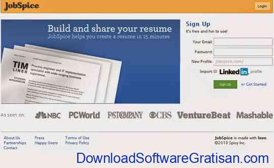 Aplikasi untuk Membuat CV Kreatif Secara Online Jobspice