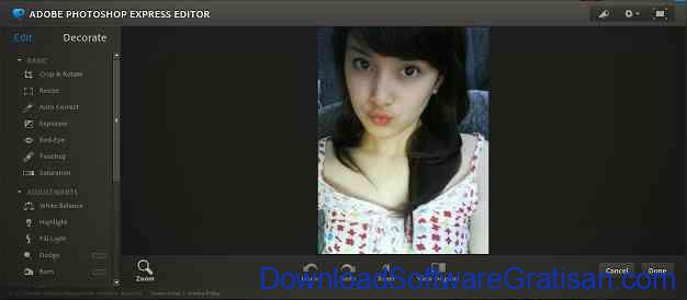 Aplikasi Edit Foto Online Photoshop Express