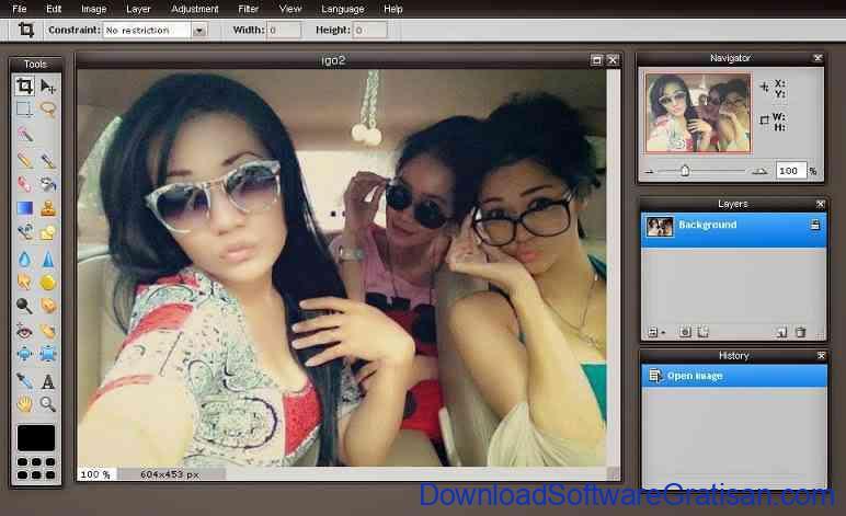 Aplikasi Edit Foto Online Pixlr