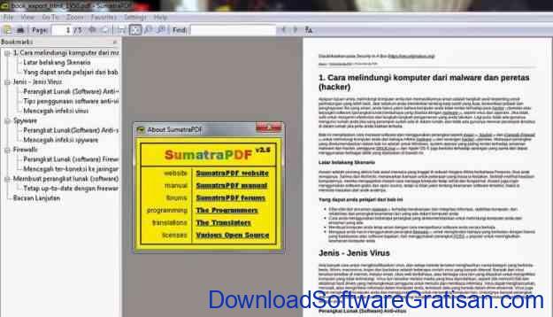 Aplikasi PDF Reader Ringan dan Gratis: Sumatra PDF