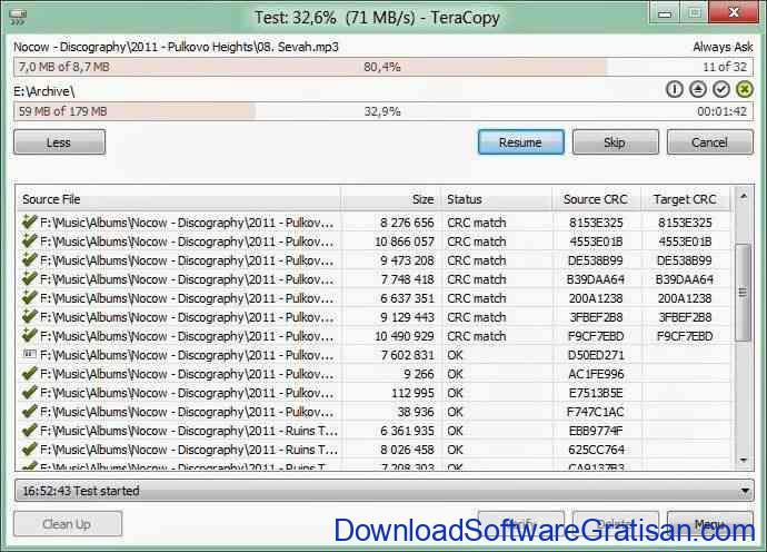 Download Aplikasi Copy File Dengan Cepat TeraCopy