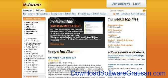 situs aplikasi Fileforum