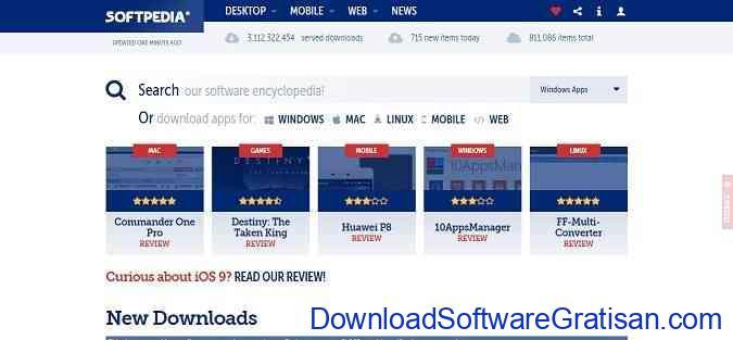 tempat download aplikasi Softpedia