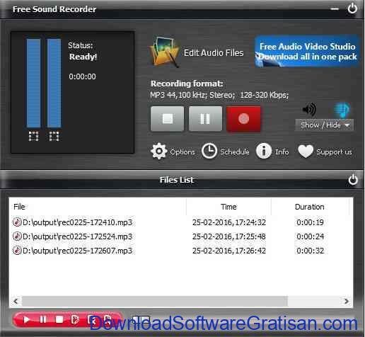 Aplikasi Perekam Suara untuk Laptop:Free Sound Recorder