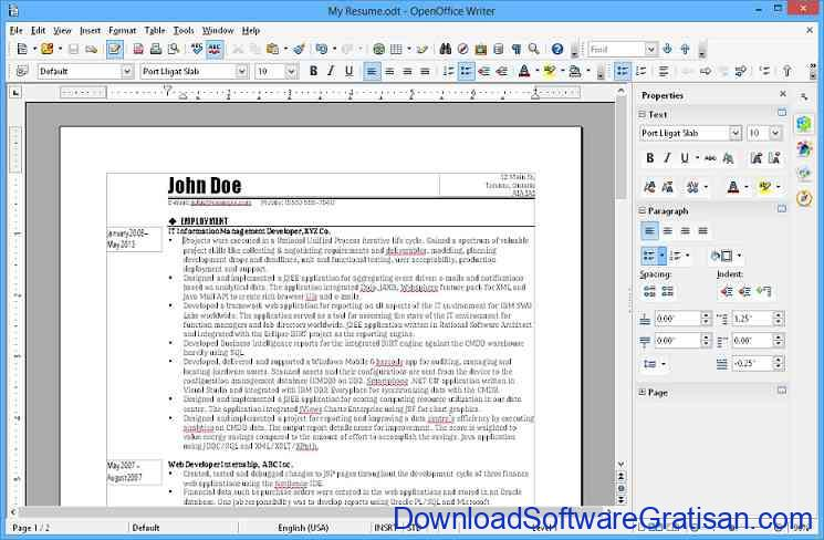 Aplikasi Alternatif Office OpenOffice