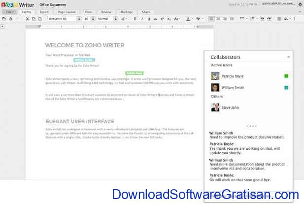 Aplikasi Alternatif Office Zoho Docs