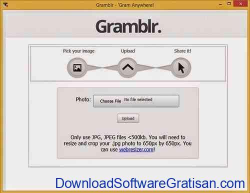 Aplikasi untuk Upload Foto ke Instagram dari PC Gramblr