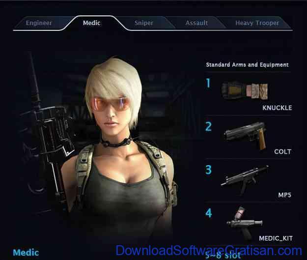 Game Perang MMO FPS untuk PC War Rock Profesi