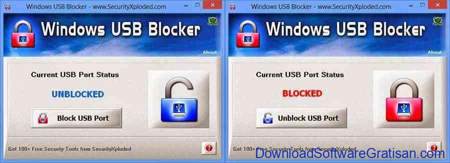Aplikasi Untuk Mengunci Port USB : Windows USB Blocker