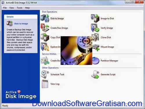 Aplikasi Untuk Backup Harddisk : Active@ Disk Image