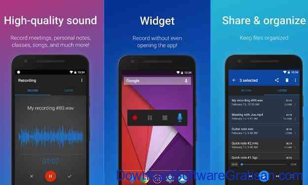 Aplikasi perekam suara dan musik EASY VOICE RECORDER