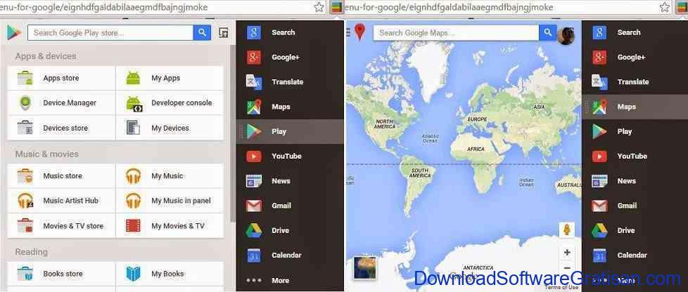 Ekstensi Chrome Untuk Akses Layanan Google : Black Menu for Google