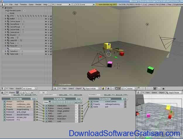 Aplikasi Robotika Blender untuk Robotik