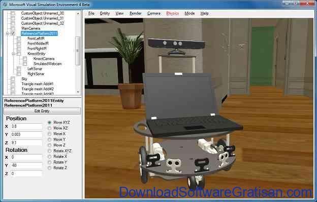 Aplikasi Robotika Microsoft Robotics Developer Studio