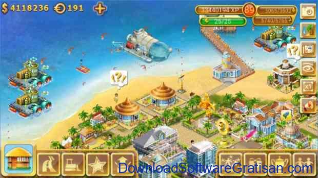 Game Membangun Kota & Desa Terbaik untuk Android paradise island