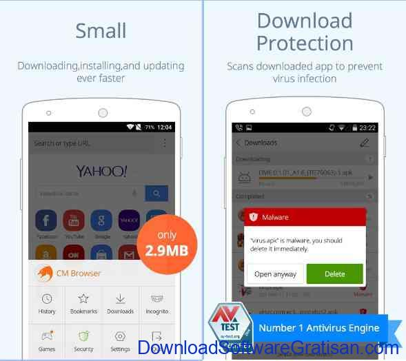 10 Browser Android Gratis Tercepat CM Secure Browser