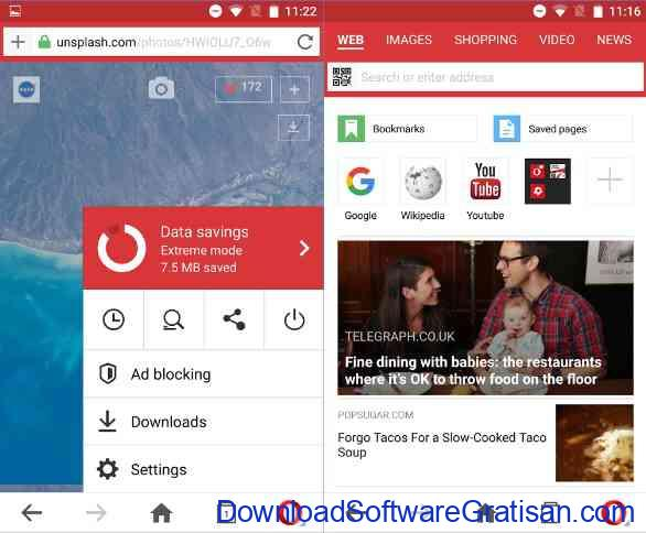 10 Browser Android Gratis Tercepat Opera Mini web browser