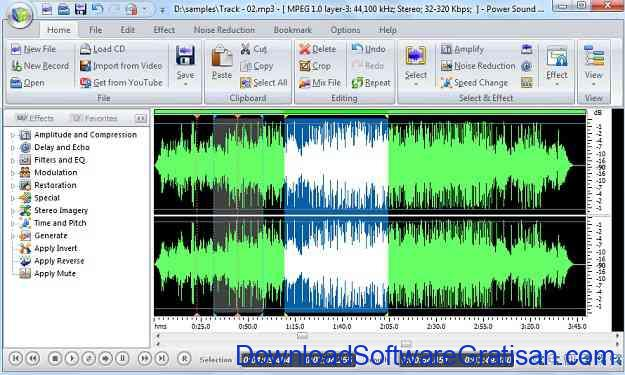 Aplikasi Edit Mp3 power sound editor free