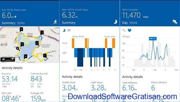 Aplikasi Fitness Microsoft Health