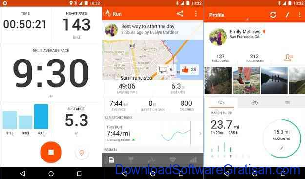 Aplikasi Fitness Strava Running and Cycling GPS