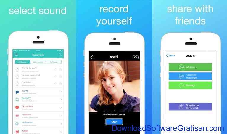 Aplikasi untuk Membuat Lipsing Video di Android: Dubsmash