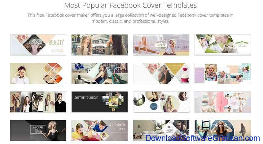 Template Facebook Cover Fotojet
