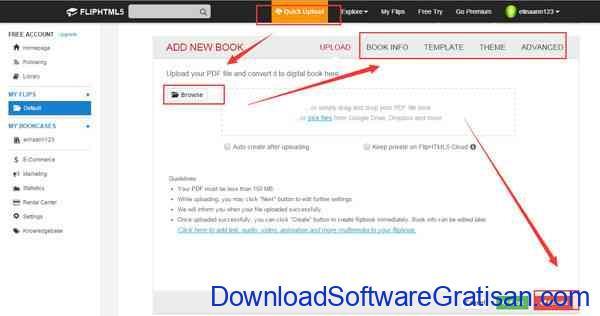 Tahapan Membuat Flipbook online