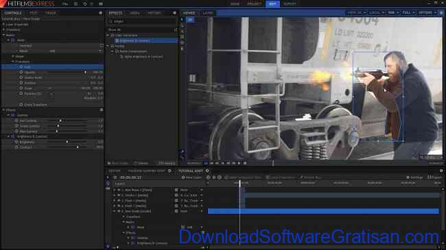 Aplikasi Edit Video PC Windows Gratis Terbaik hitfilm3 express