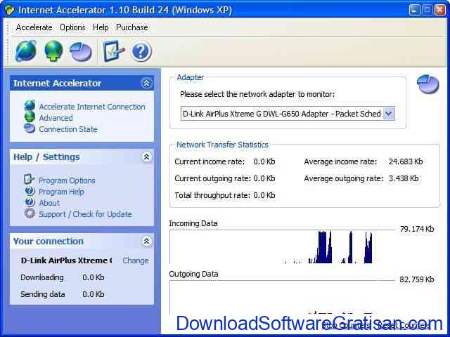 Aplikasi untuk mempercepat internet Internet Accelerator