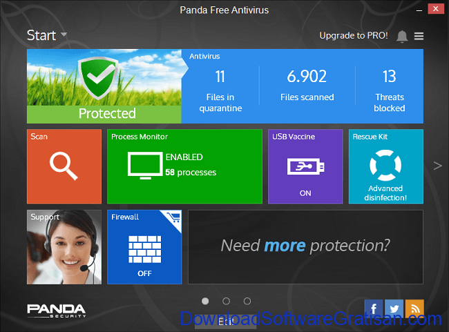 Anti Spyware Gratis Terbaik untuk PC panda free antivirus