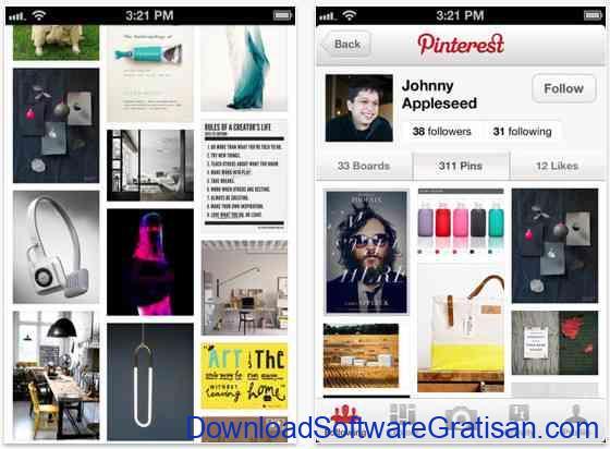 Aplikasi Terbaik yang Wajib Dimiliki Pengguna iPhone pinterest-app-iphone